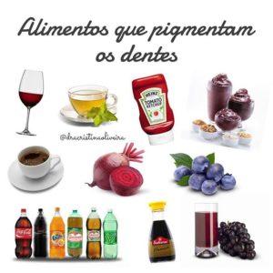 alimentos que mancham dentes